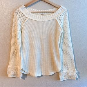NWT Altar'd State White Pullover Sweater